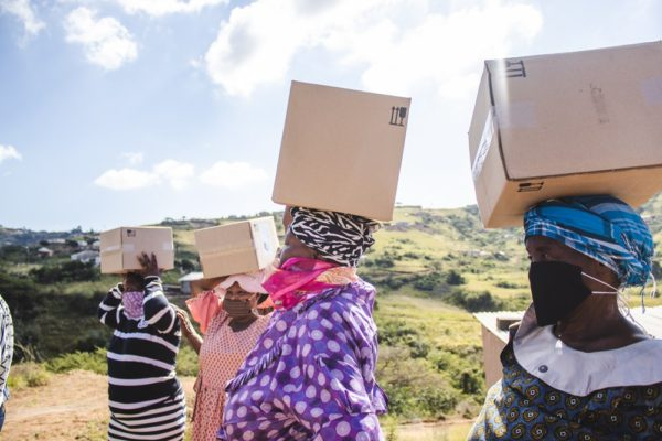 HACT women with boxes