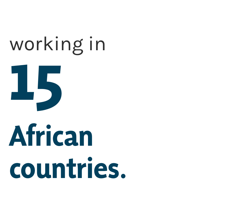 working in 15 african countries