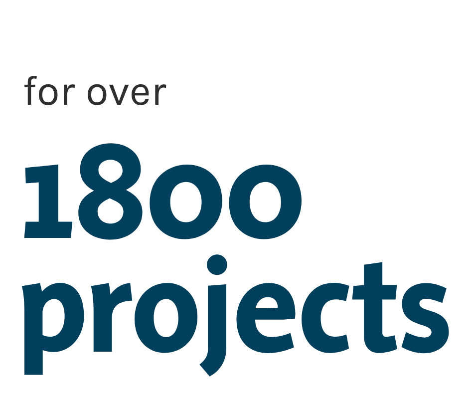 1800 projects