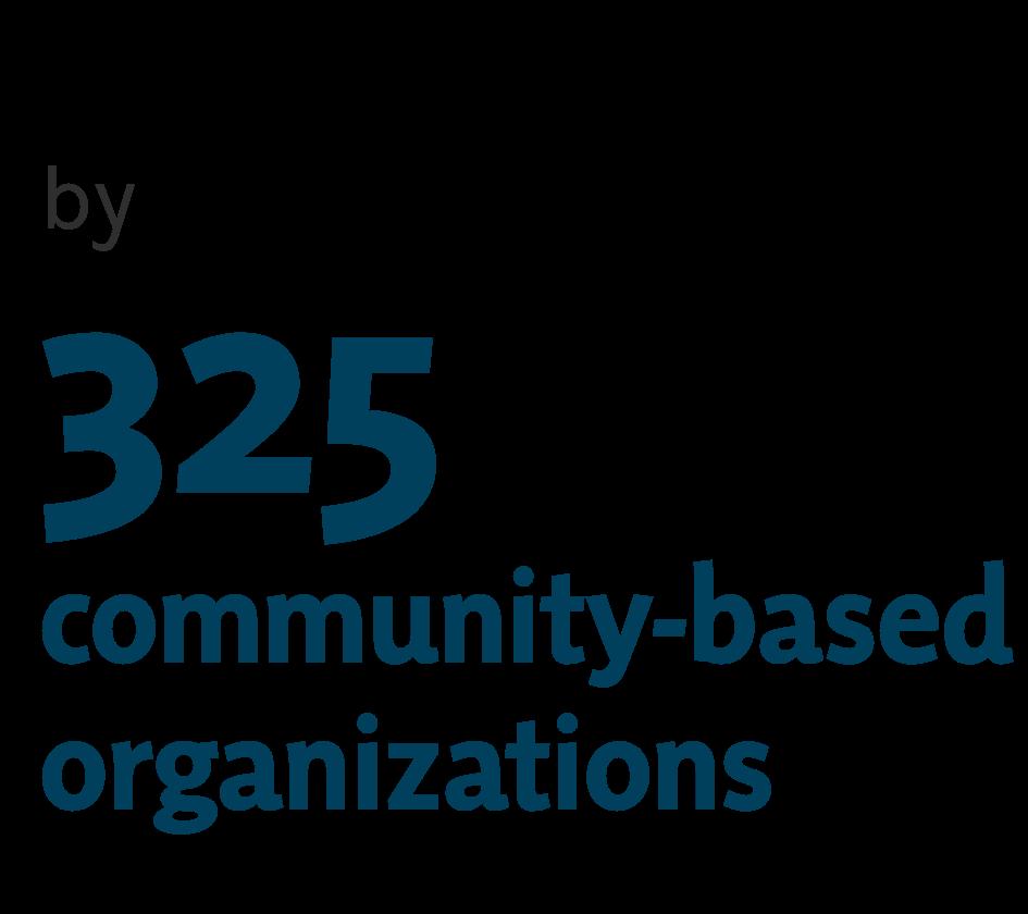 325 community based organizations